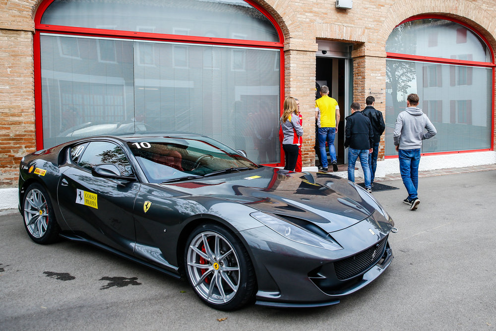 The 812 Superfast ready to be raced after the safety briefing.
