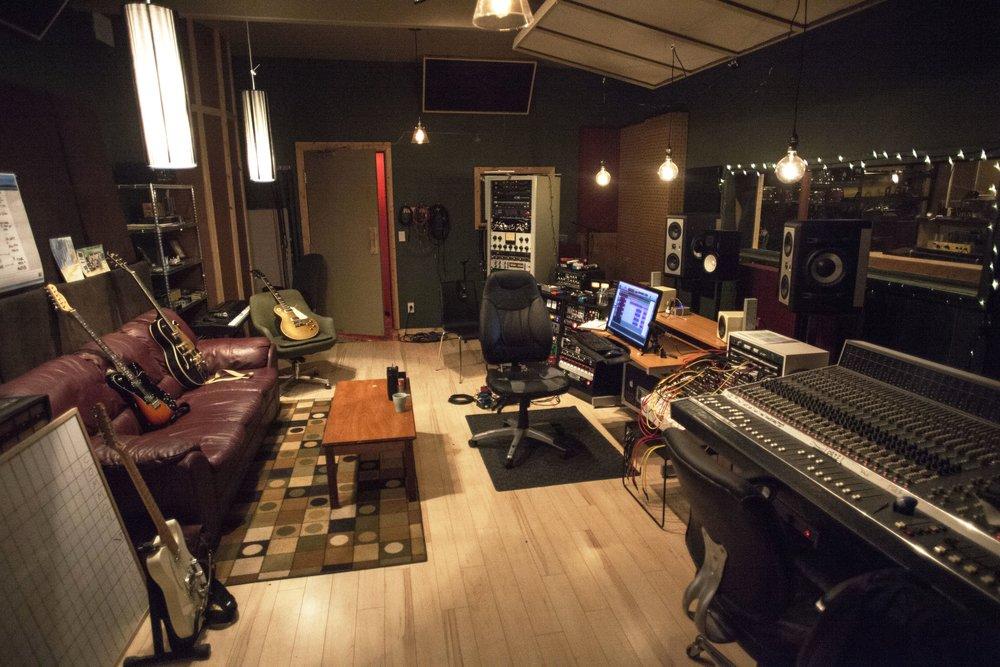 .Studio A Control room