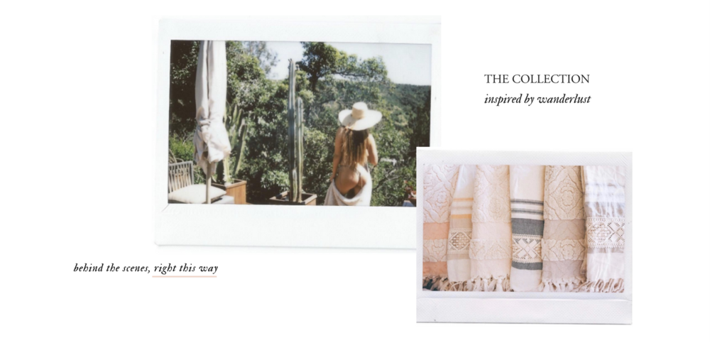 shop the collection of travel inspired towels