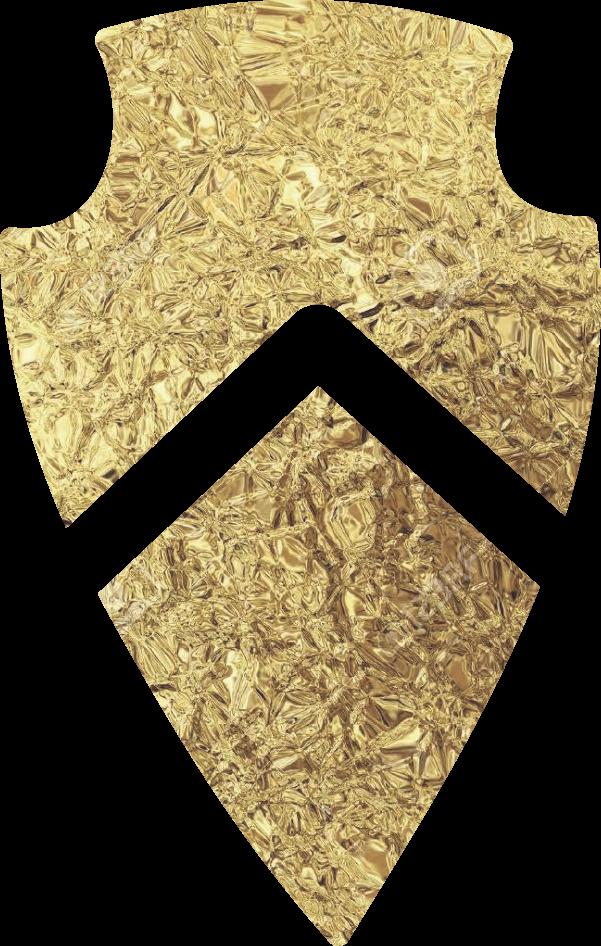 Gilded Arrow Gold Icon Arrowhead