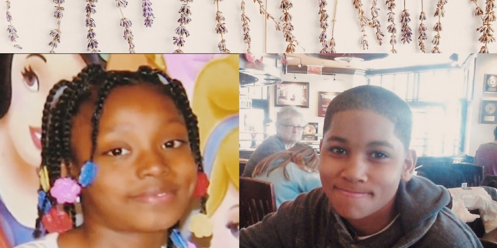 Aiyana Stanley-Jones, 7 years old + Tamir Rice, 12 years old both killed by the police via google images + VSCO.