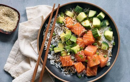 Not a photo of a poke bowl that I've personally eaten, but you get the idea. My favorite food right now!  Photo via Whole Foods; click for link