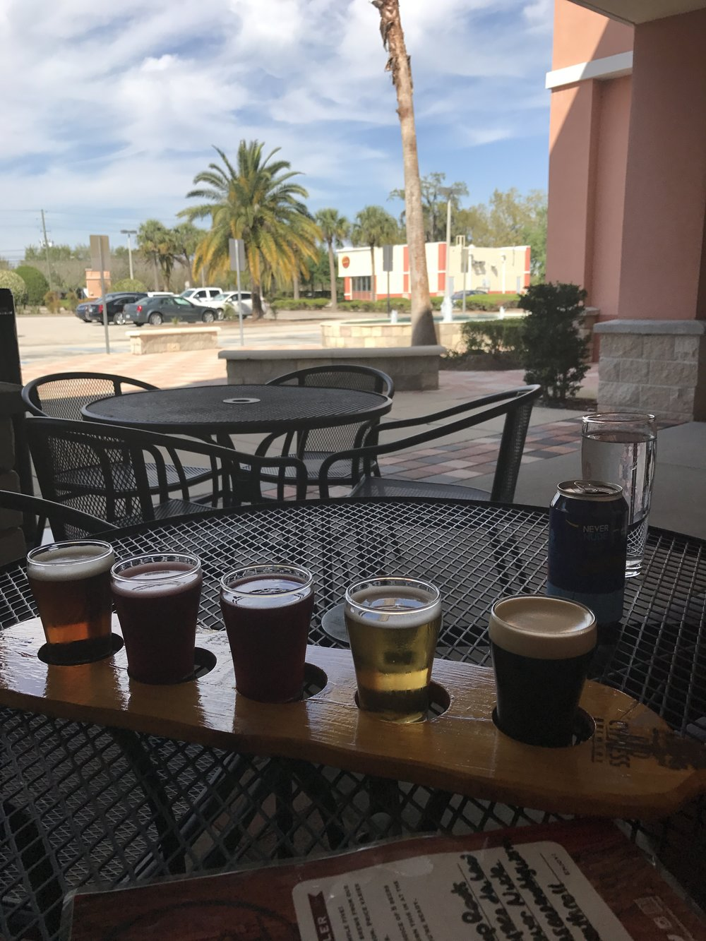My flight at Red Cyprus Brewery yesterday afternoon. No filter necessary.