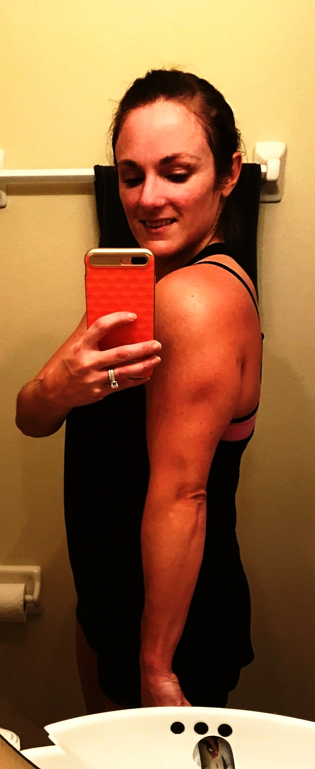 See the definition in my tricep? Love it!