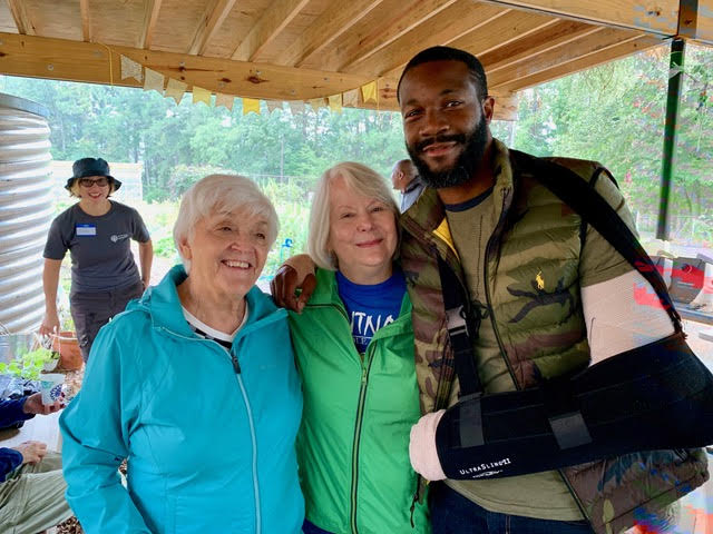Claire with Gayle Flowers (former Putnam teacher) and Mayor Randall Woodfin (former Putnam student)