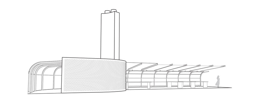 Perspective of the Pavilion.  Perspektive des Pavillons.