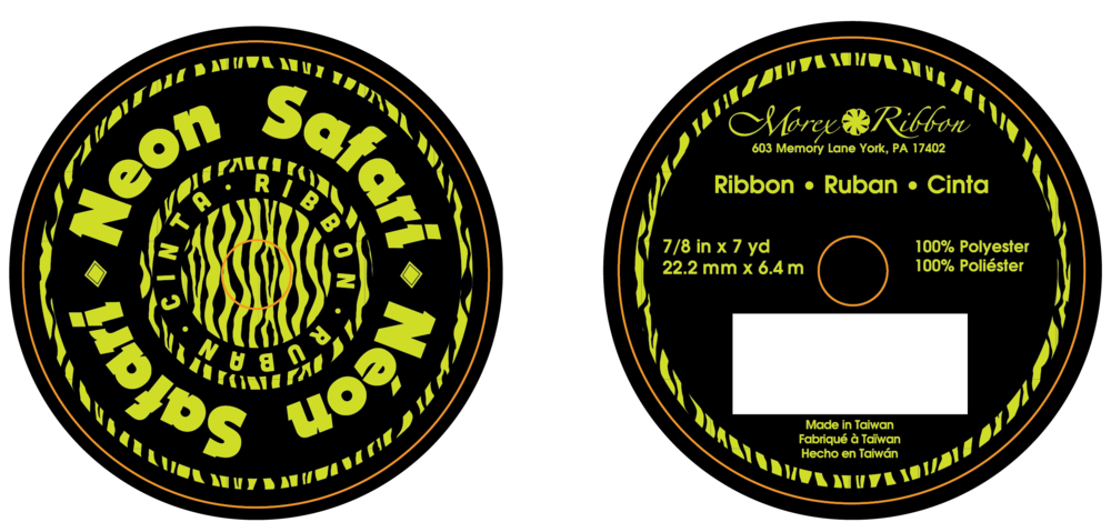 Neon Ribbon Flange Design