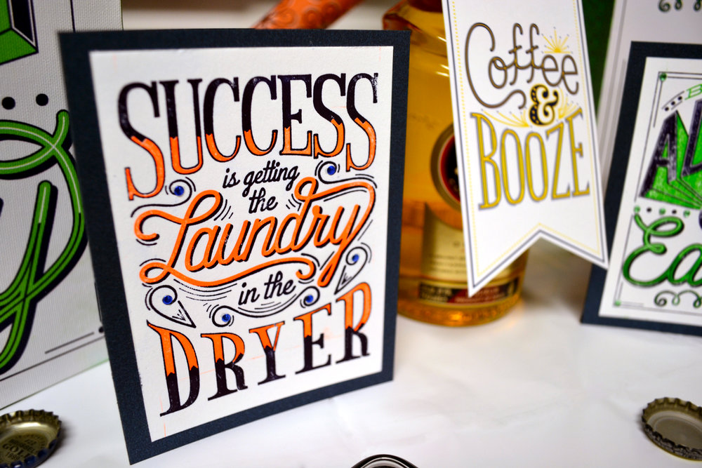Success Laundry Card