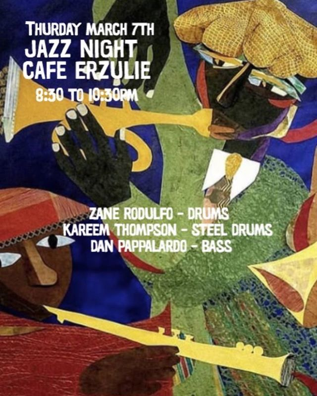 Tonight, pull up and enjoy a cozy night of jazz. Food 🥘 and drinks 🥃🍷 will be served throughout the performance 😋