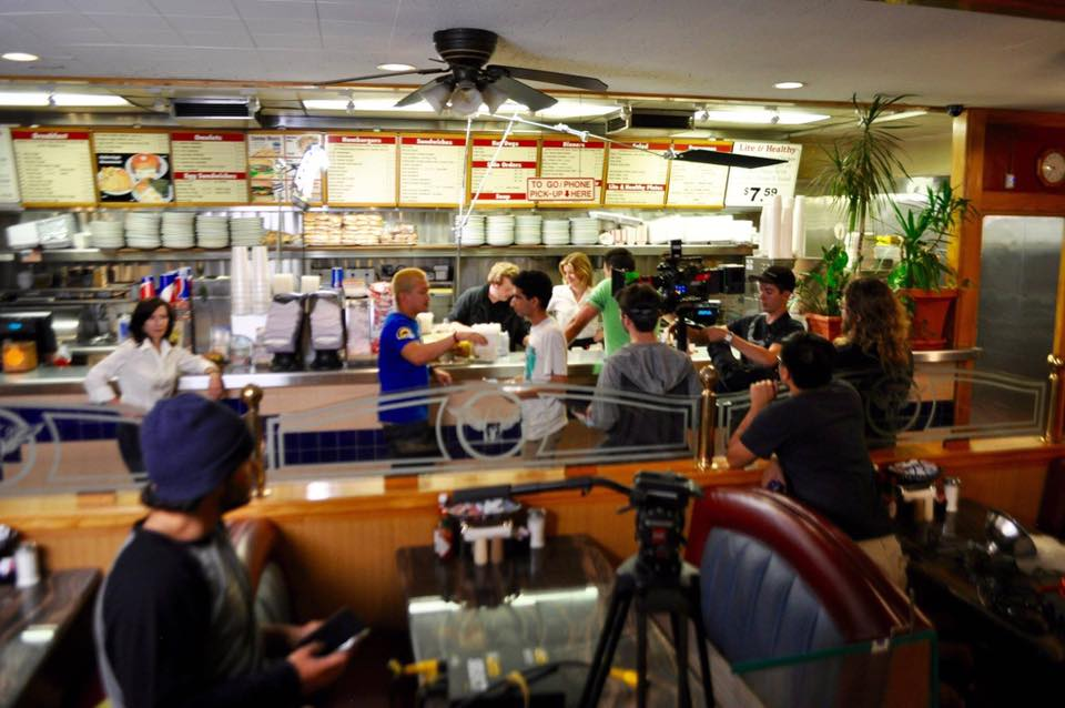 ON SET FILMING SIX CUPS