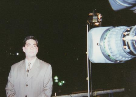 My PR Guru Founder Elliot Cohen reporting live from the Al Gore Presidential Campaign Headquarters in Nashville, TN. November, 2000.