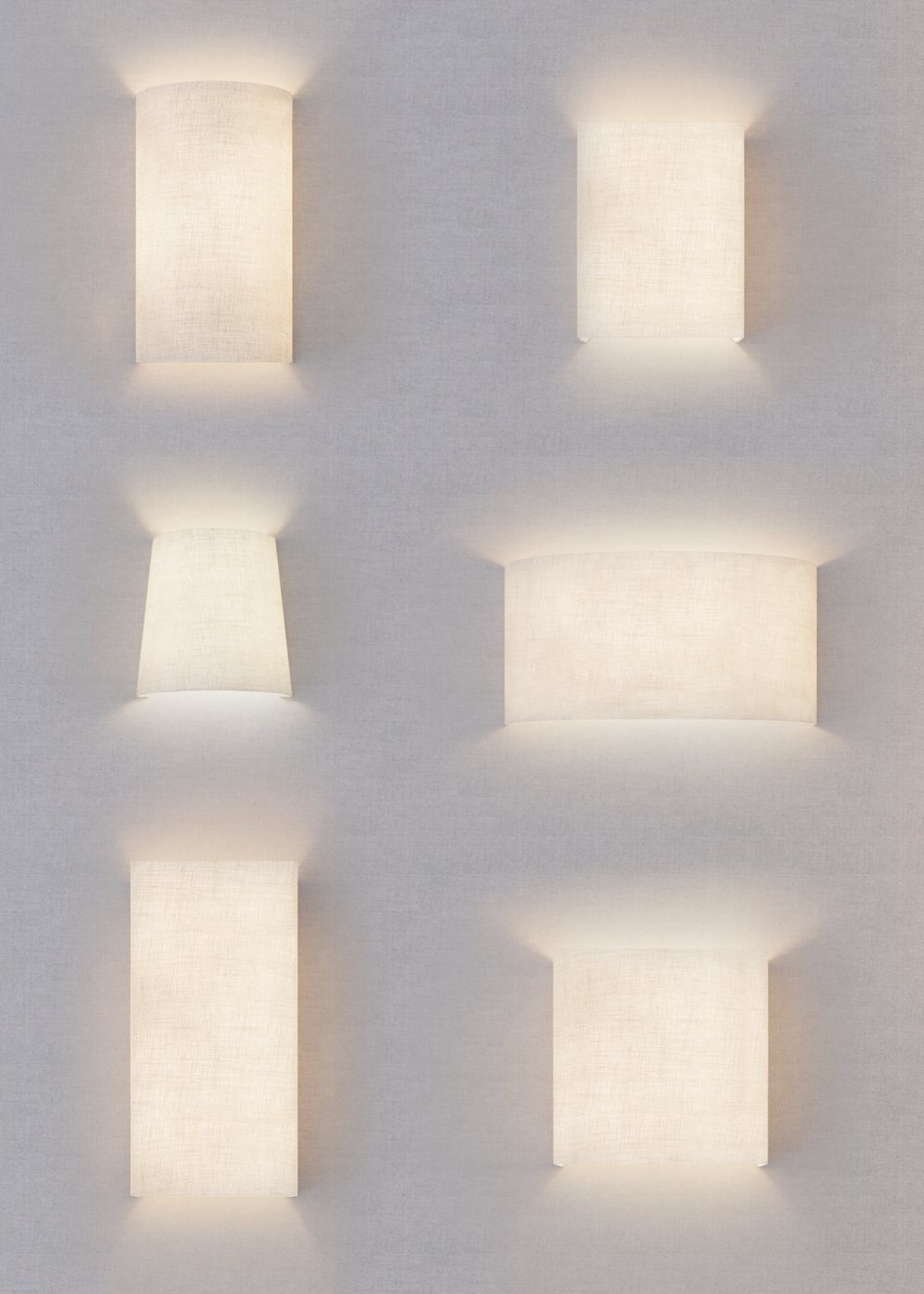 1Select Shade Shape - Choose from over 12 different wall sconce shapes
