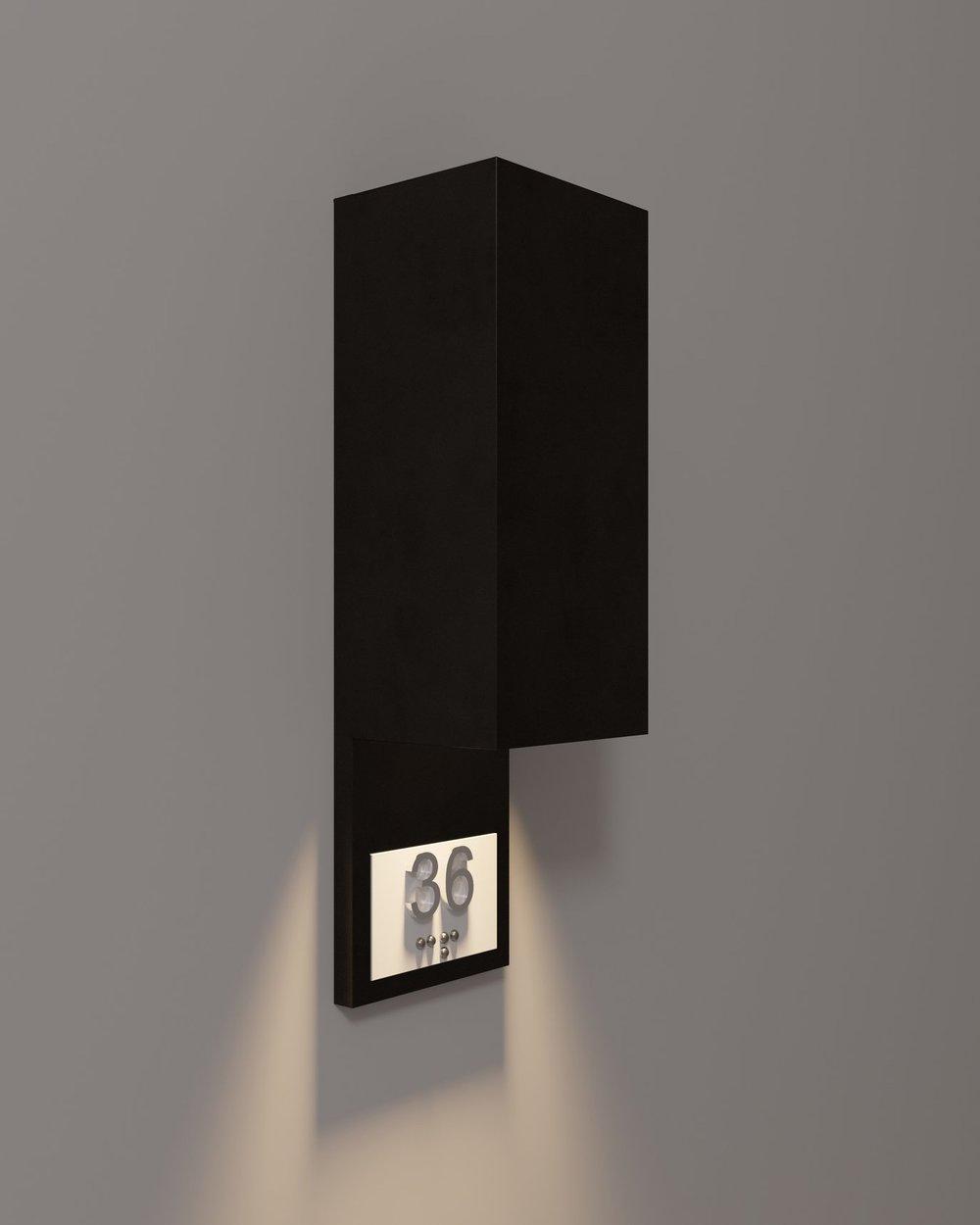 "5"" Panel in Matte Black 1-way Light"