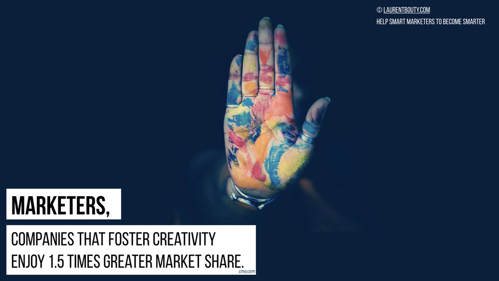 Marketers, companies that foster creativity enjoy more market share
