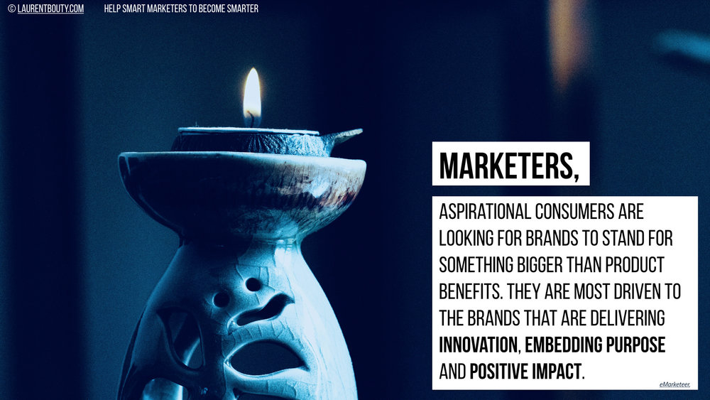 Marketers, Aspirational Consumers are looking fro Brands that are delivering embedding purpose