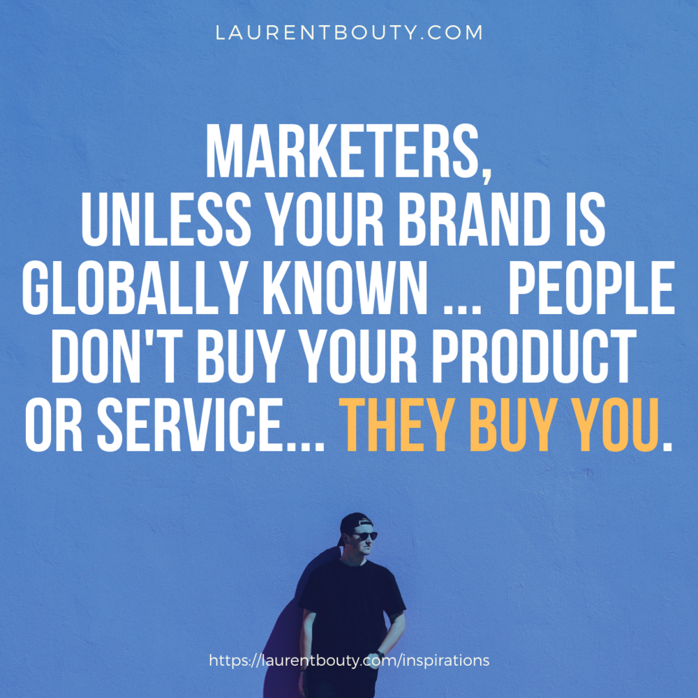 Marketers, they buy you