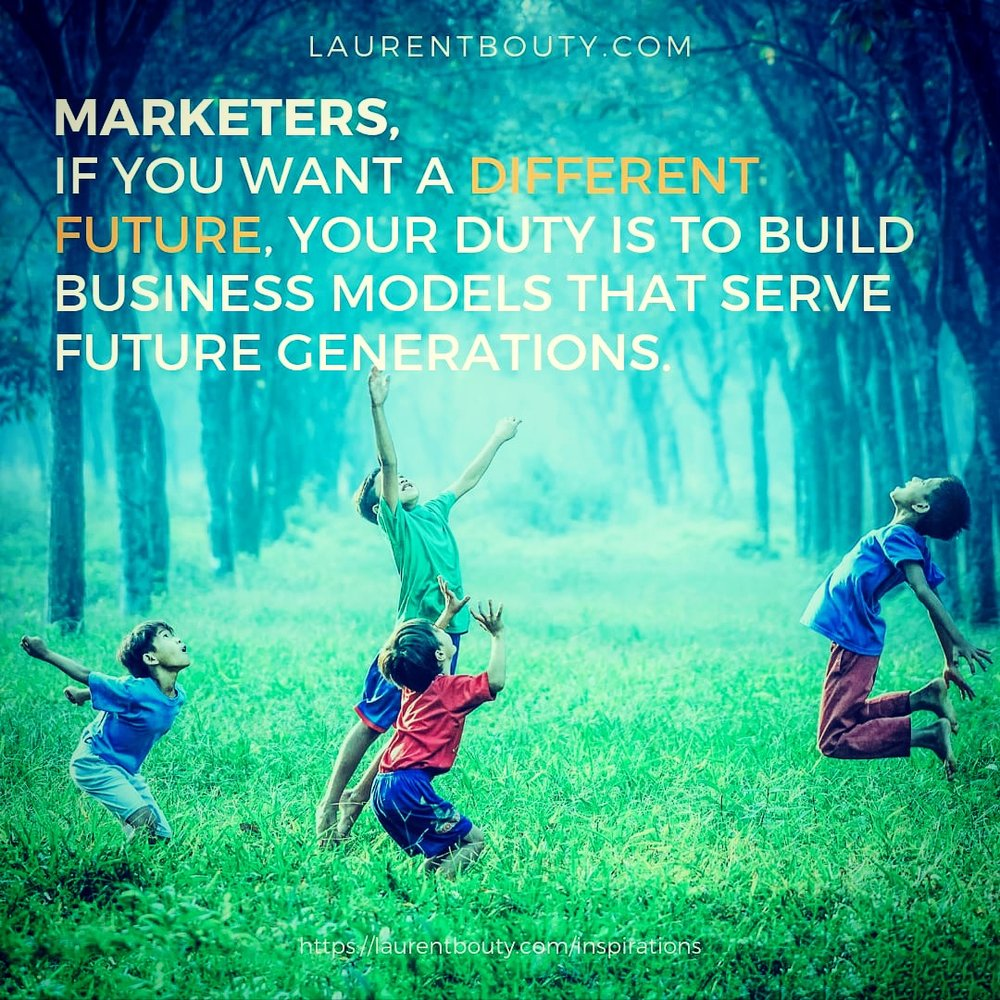 Marketers, do build a different future