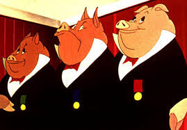Squealer, Napoleon and Snowball