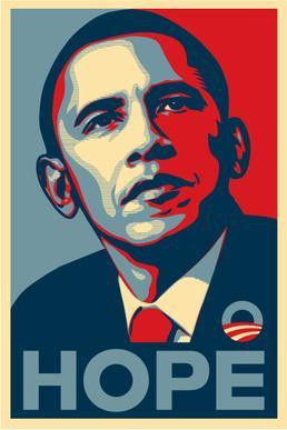Barack Obama Hope Poster_ShepardFairey
