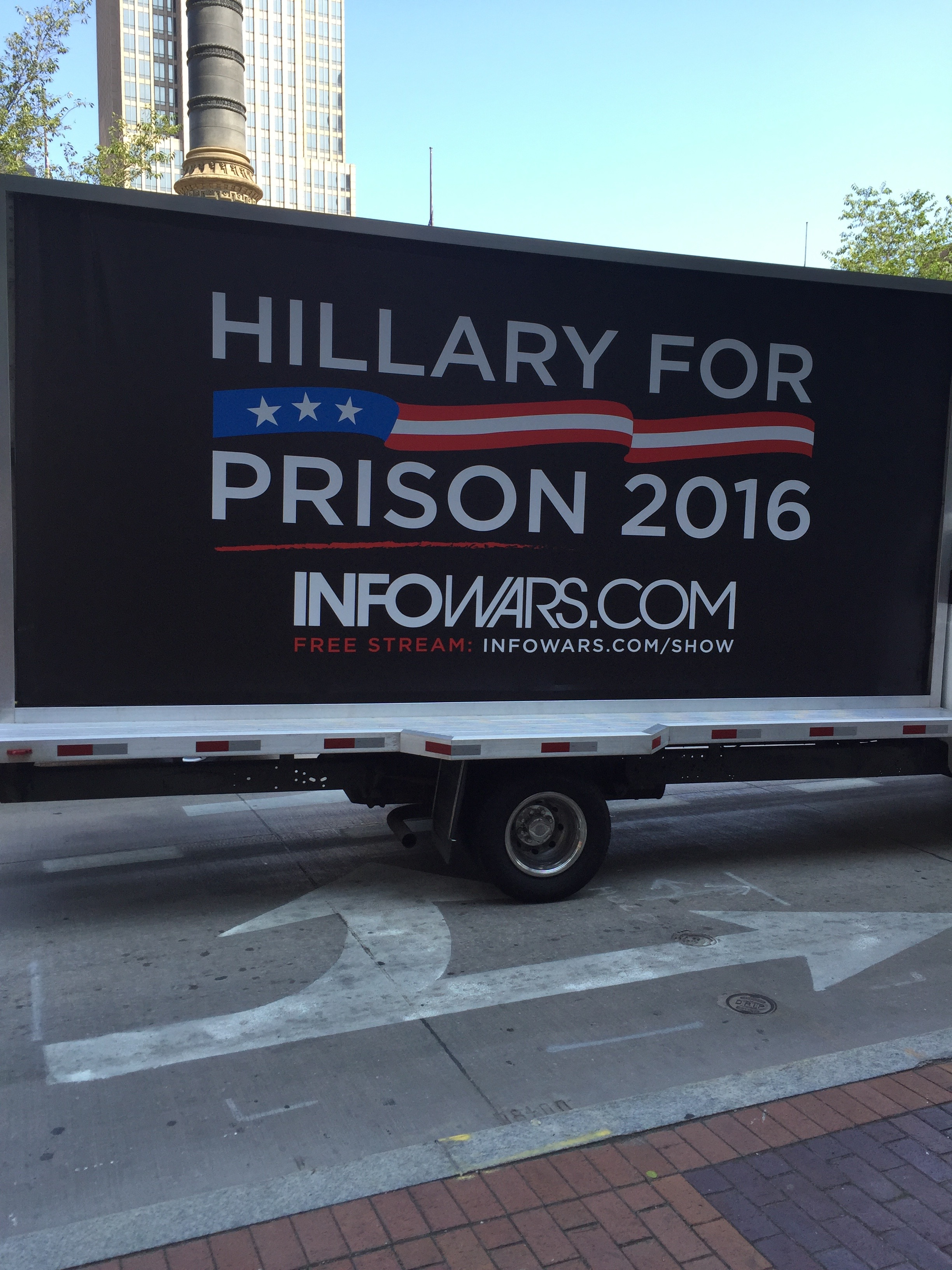 """""""Lock her up! Lock her up!"""" Good taste was often on vacation from Cleveland last week."""
