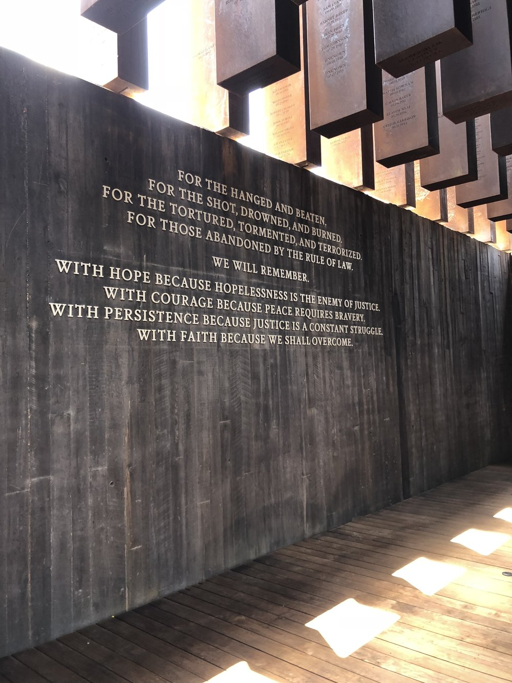 The National Memorial for Peace and Justice | Equal Justice Initiative (Photo by Annie Blaine)