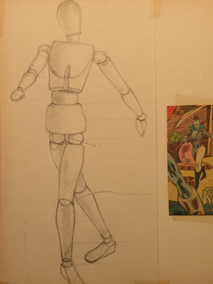 * By Instructor, Alice Olson Seufert. Super Heroes, Manikin used for proportions.