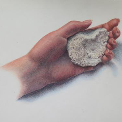 Drawing of hand by Rachel, age 15