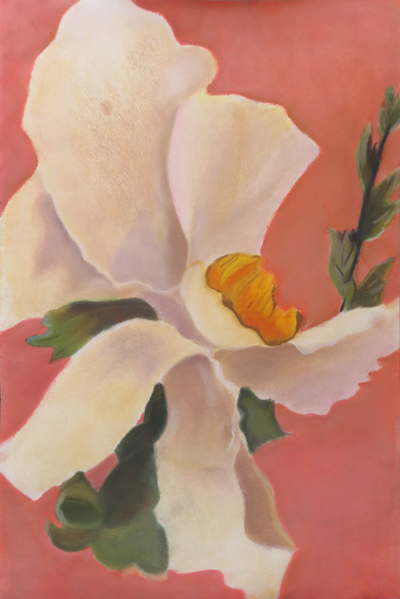 Chalk pastel in the style of Georgia O'Keeffe, by Kalvathi, Adult