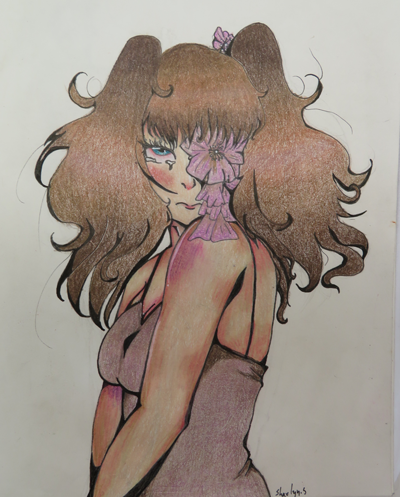 Anime drawing by Shaelyn, age 13. (original creation)