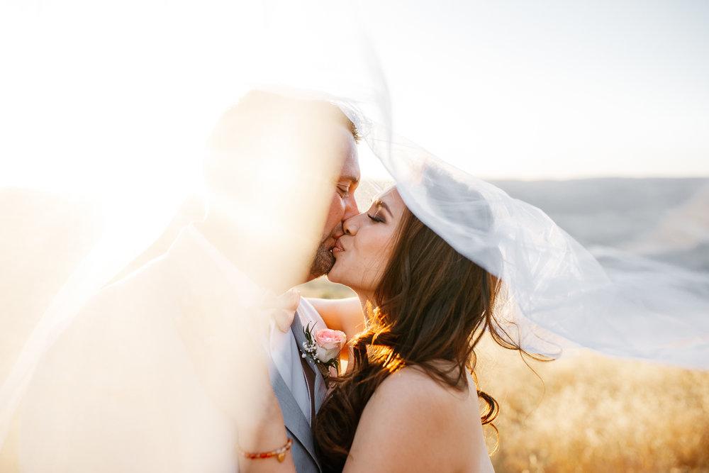 Jake & Tabatha McAnally // Portra 160 // veil + gold