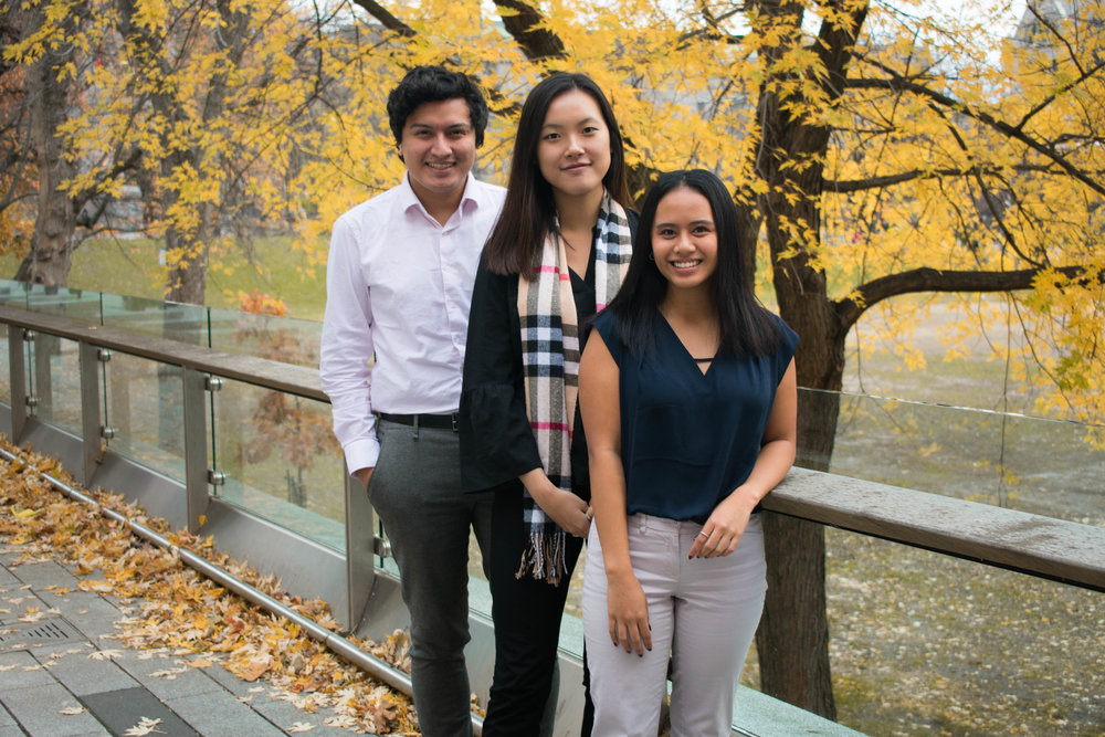 Mentorship Portfolio (left to right):   Jorge Saldana, Esli Chan, Julia Baladad