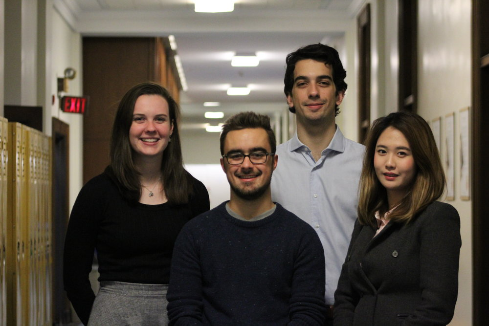 Academic Portfolio (left to right):   Lilla Adams, Eric Krol, Audun Jawanda, Lily Yu  Missing: Chanel MacDiarmid