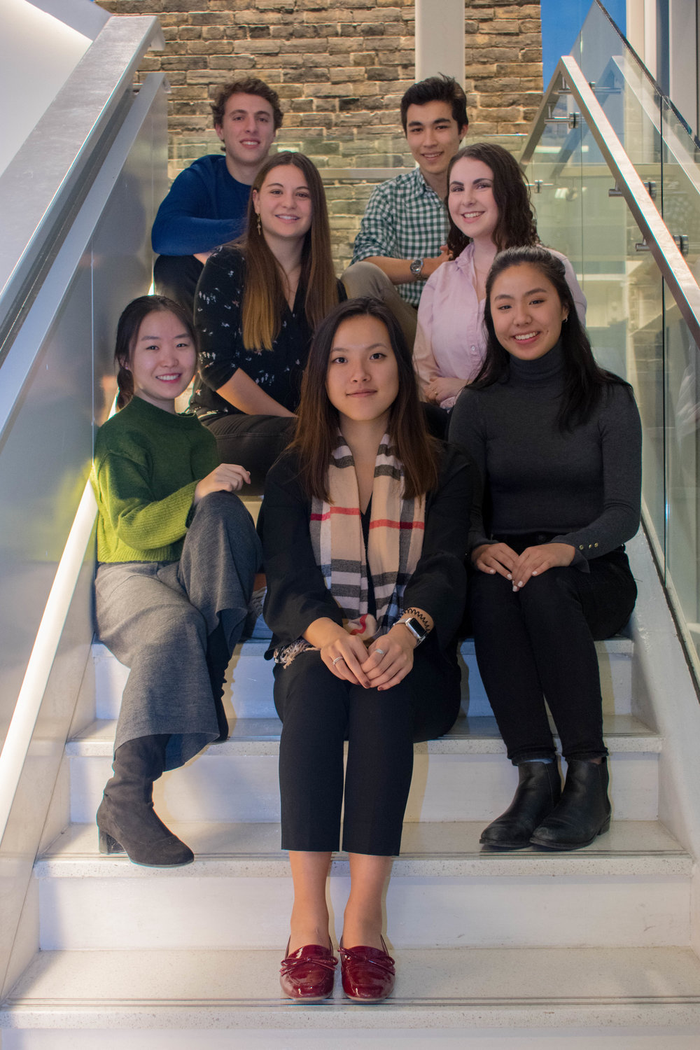 First Year Council (left to right):   Top row: Jacob Lokash, Liam Olsen  Middle row: Maëna Raoux, Maddy Evans  Front row: Min Kwon, Esli Chan,Naomi Shu  Missing: Dalton Liggett, Frank Lee