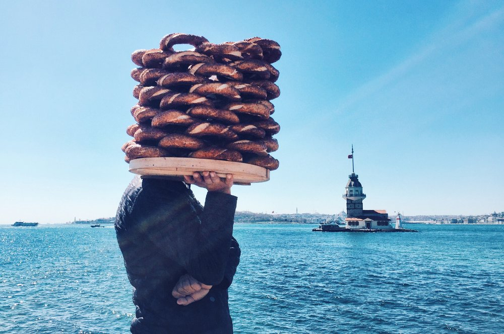 Simit seller in Istanbul