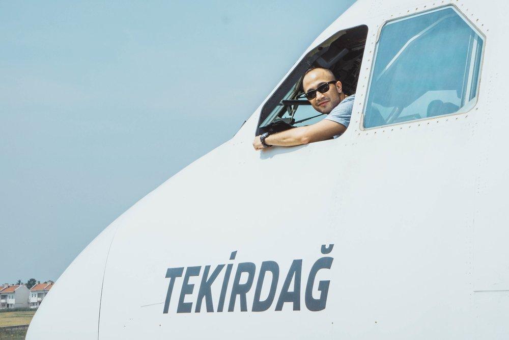 Pilot on Airplane Restaurant