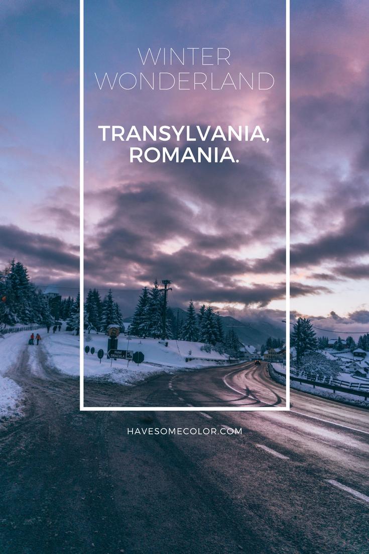 Winter Wonderland, Transylvania, Romania