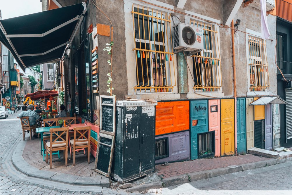 Colorful doors of Balat