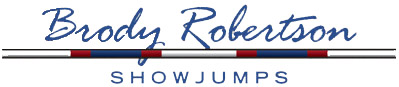 Brody Robertson Show Jumps- proud supporter of the Area Championships
