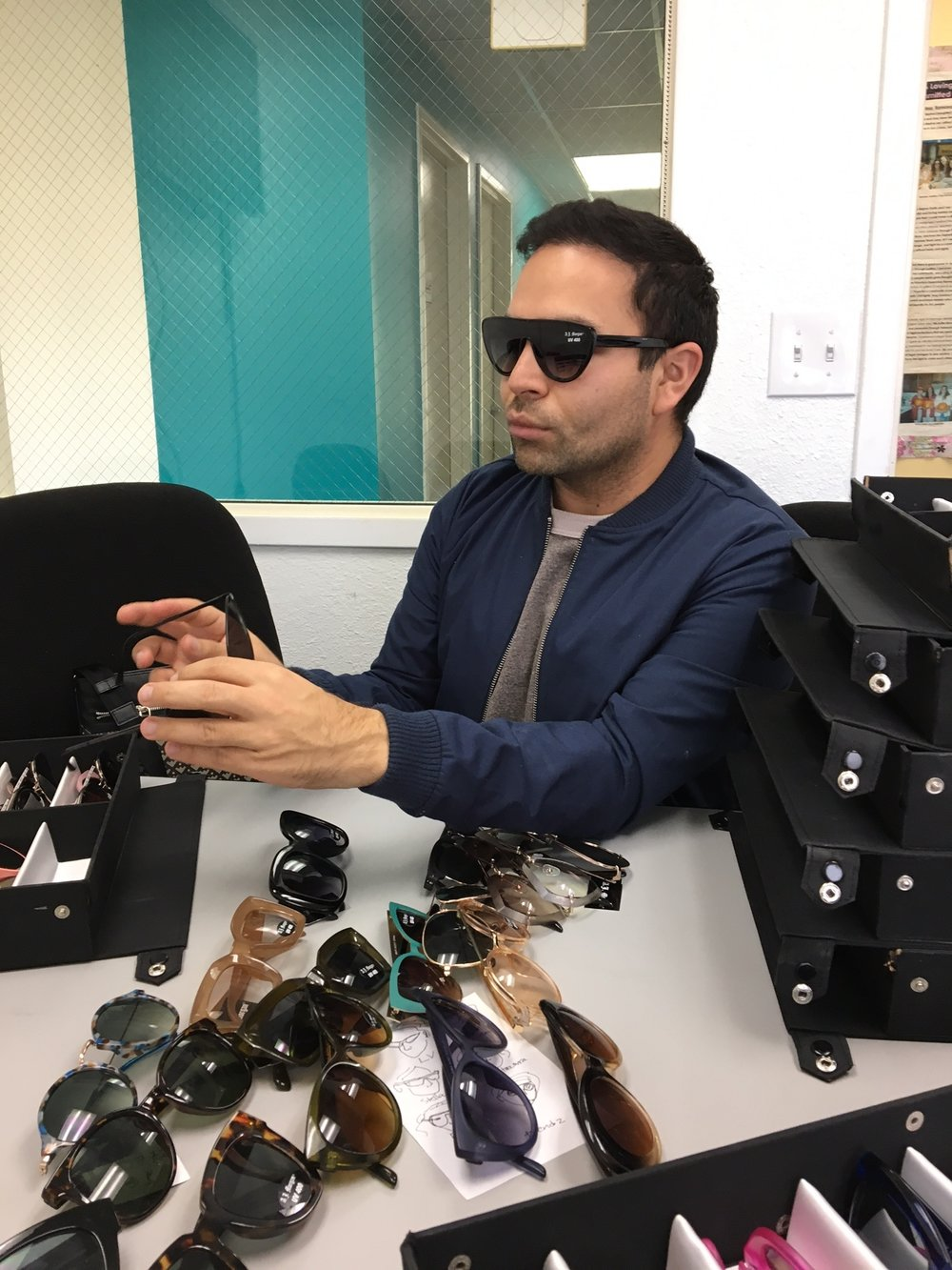 Alain  is our Sales Associate and Sunglasses Buyer.