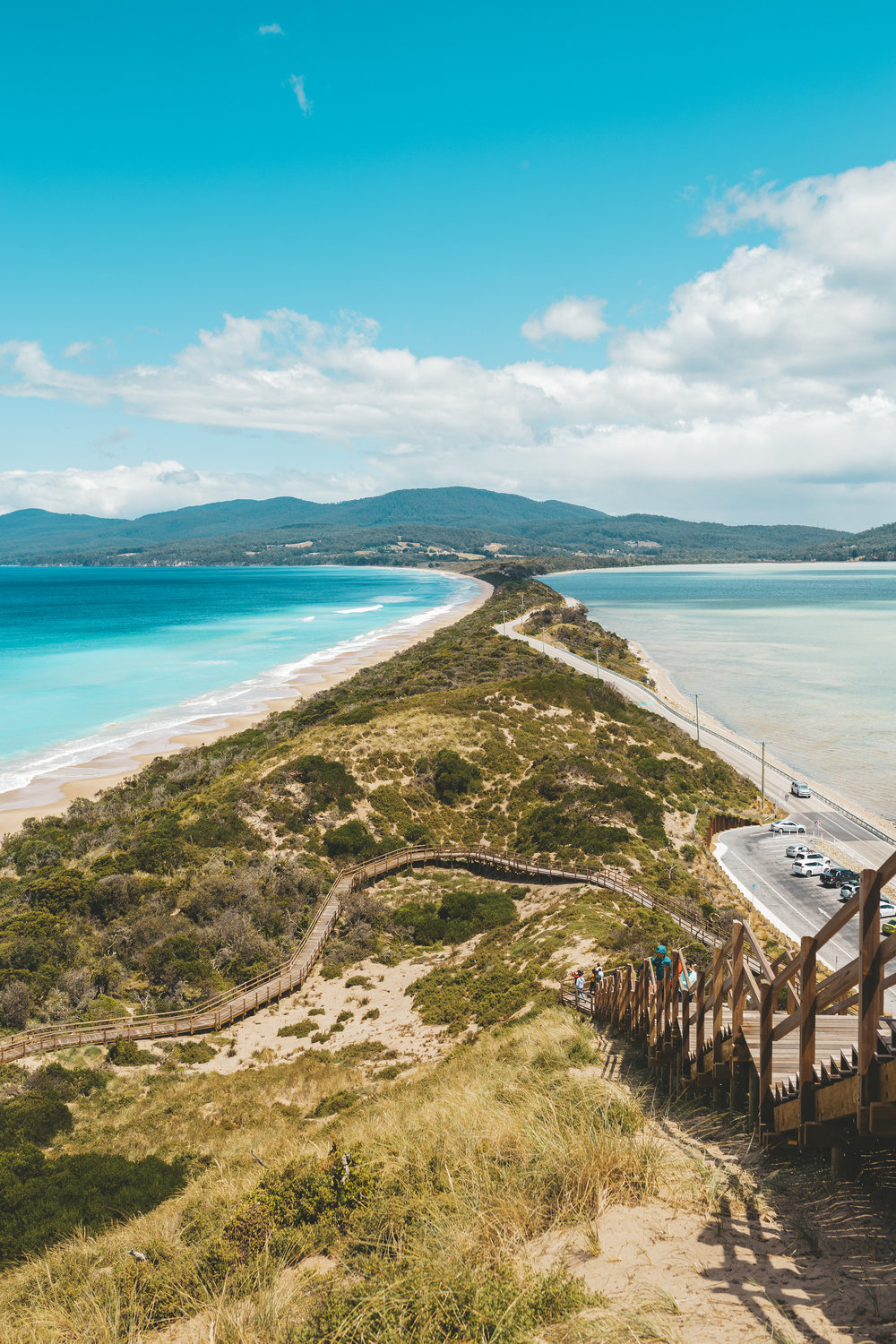 The neck of Bruny Island