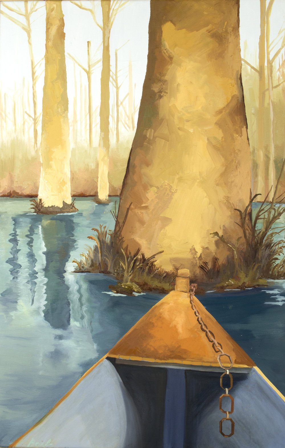 "Cypress Gardens   26""x 40""  oil on canvas   $800"