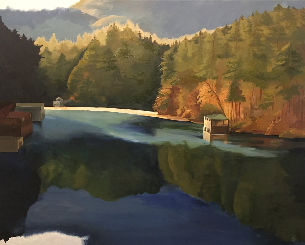 "Lake Seed, GA  40""x 32""  oil on canvas  SOLD"