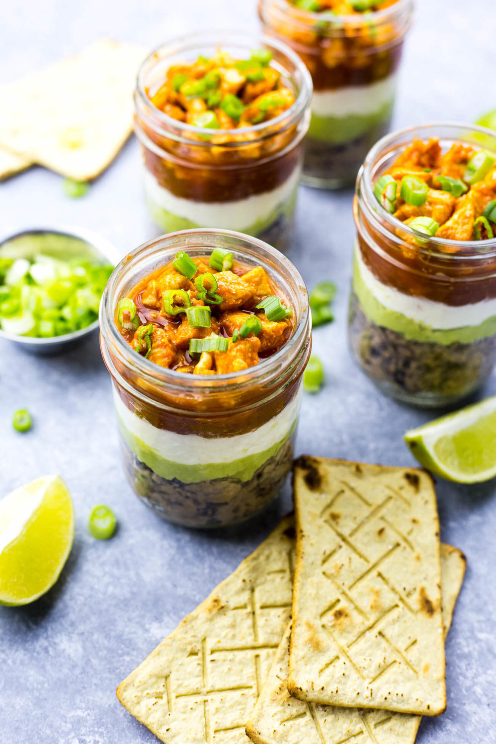 Mini Buffalo Chicken Salsa Jars