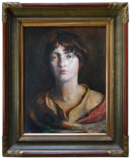 Here is an Antonia Greene portrait for sale $1500. through Early California Antiques, L.A.