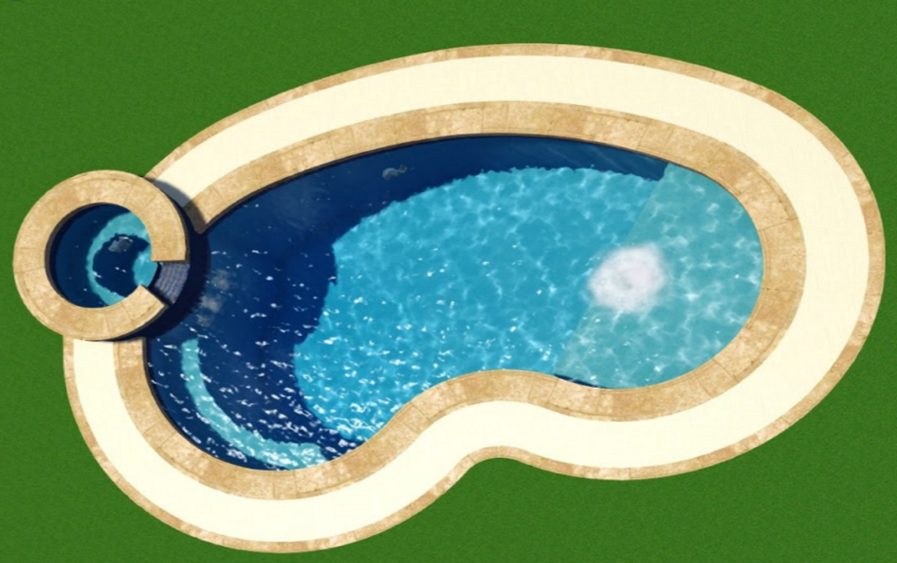 This Pool is sure to add Fun & Elegance to any backyard! -