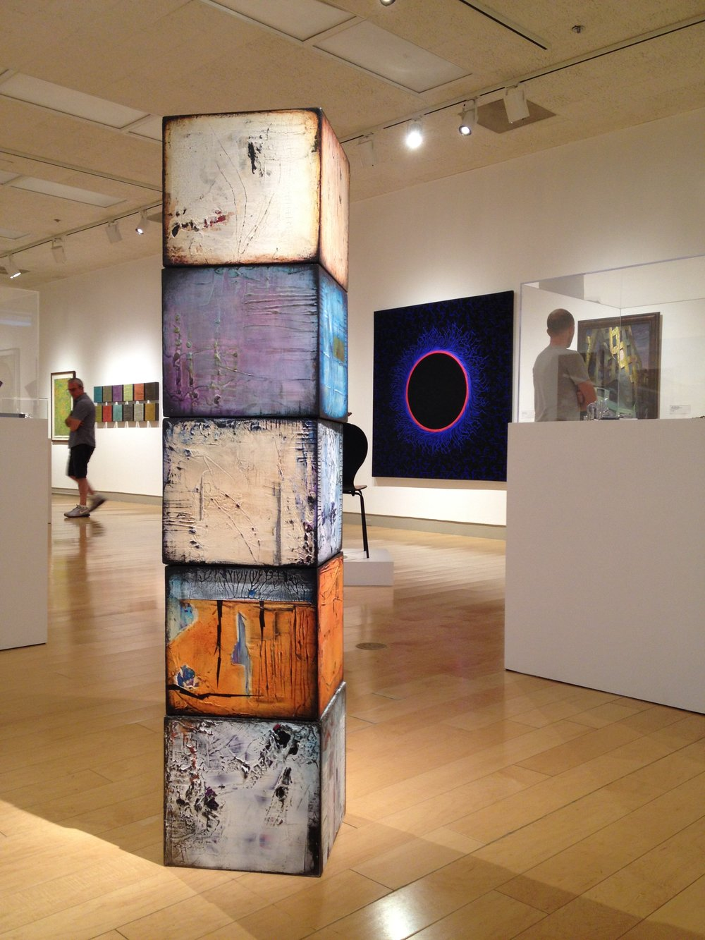 1ST AND MAIN, 2014, on wood, Preston Ormsby Award, AC exhibition, Palm Springs Art Museum