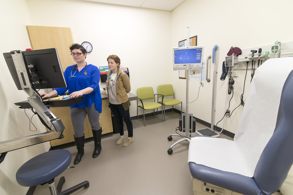Patient room of the Spokane Teaching Health Clinic
