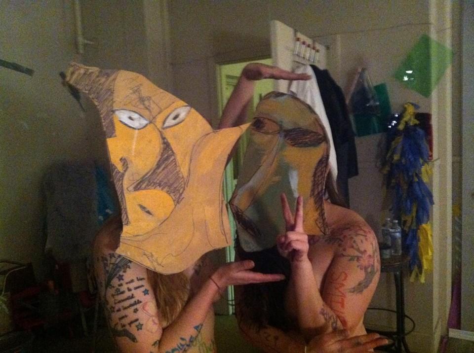 Masks on, Tyler and Kiyomi