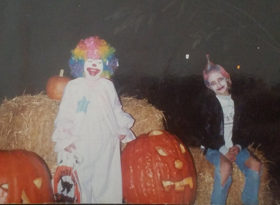 Everyone thought my brother looked  so cool  as a zombie punk rocker, but my clown costume had  a hula hoop  sewn into the waist! It changed the whole shape of my body! You couldn't even tell it was me!