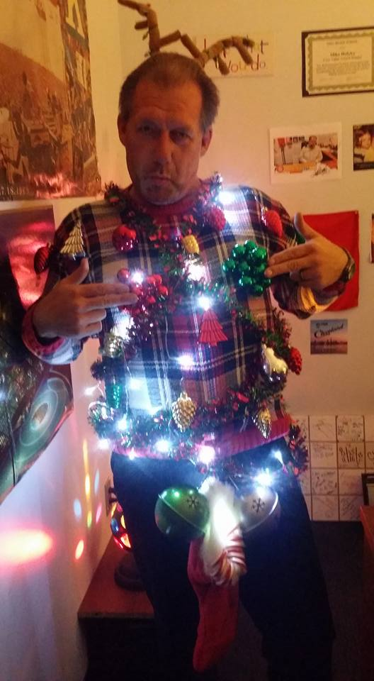 And even during the ugly Christmas sweater competition at work.